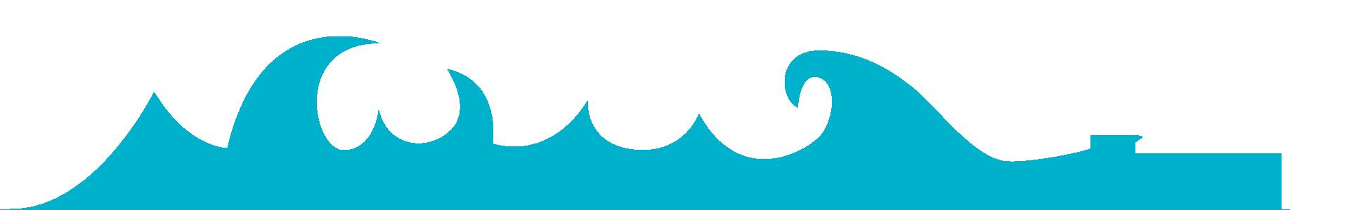 Silhouettes de vagues bleutées
