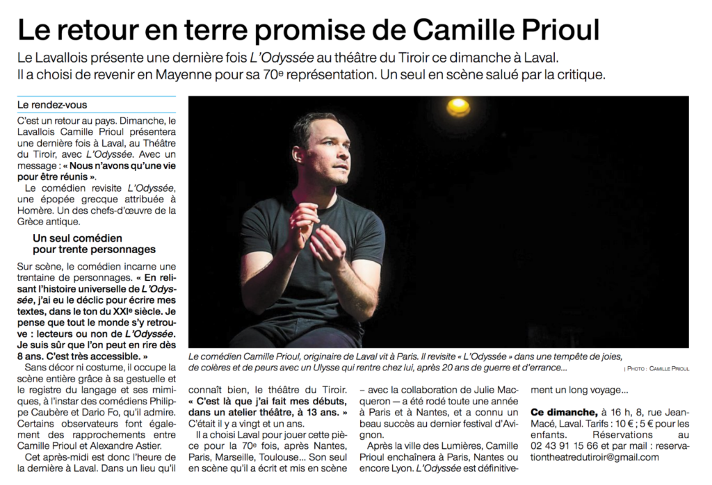 Article Ouest France du 12-01-20